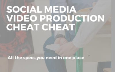 Social Media Video Production Cheat Sheet