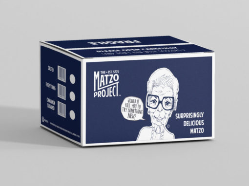 The Matzo Project Master Case Packaging Design