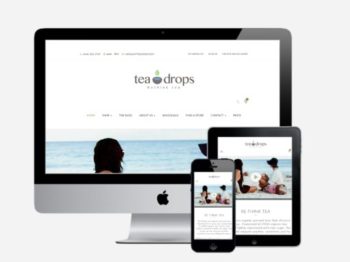 Tea Drops Website Redesign