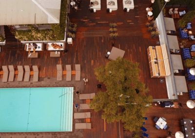 Mondrian West Hollywood Pool Drone Shot